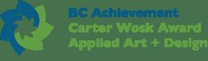 Carter Wosk Award Applied Art + Design Logo