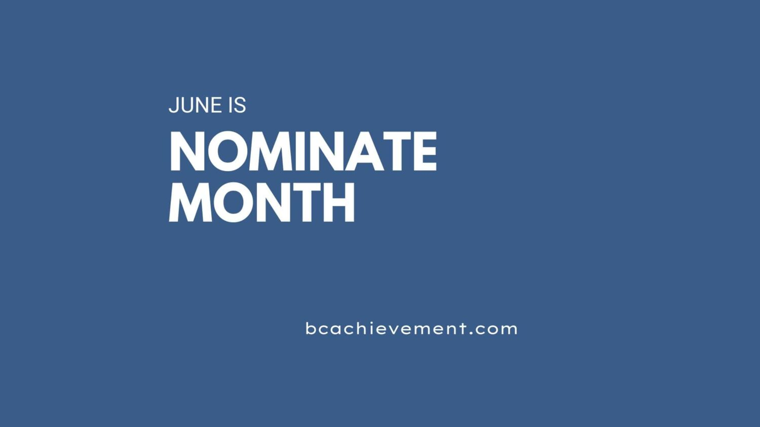 Why Nominate?