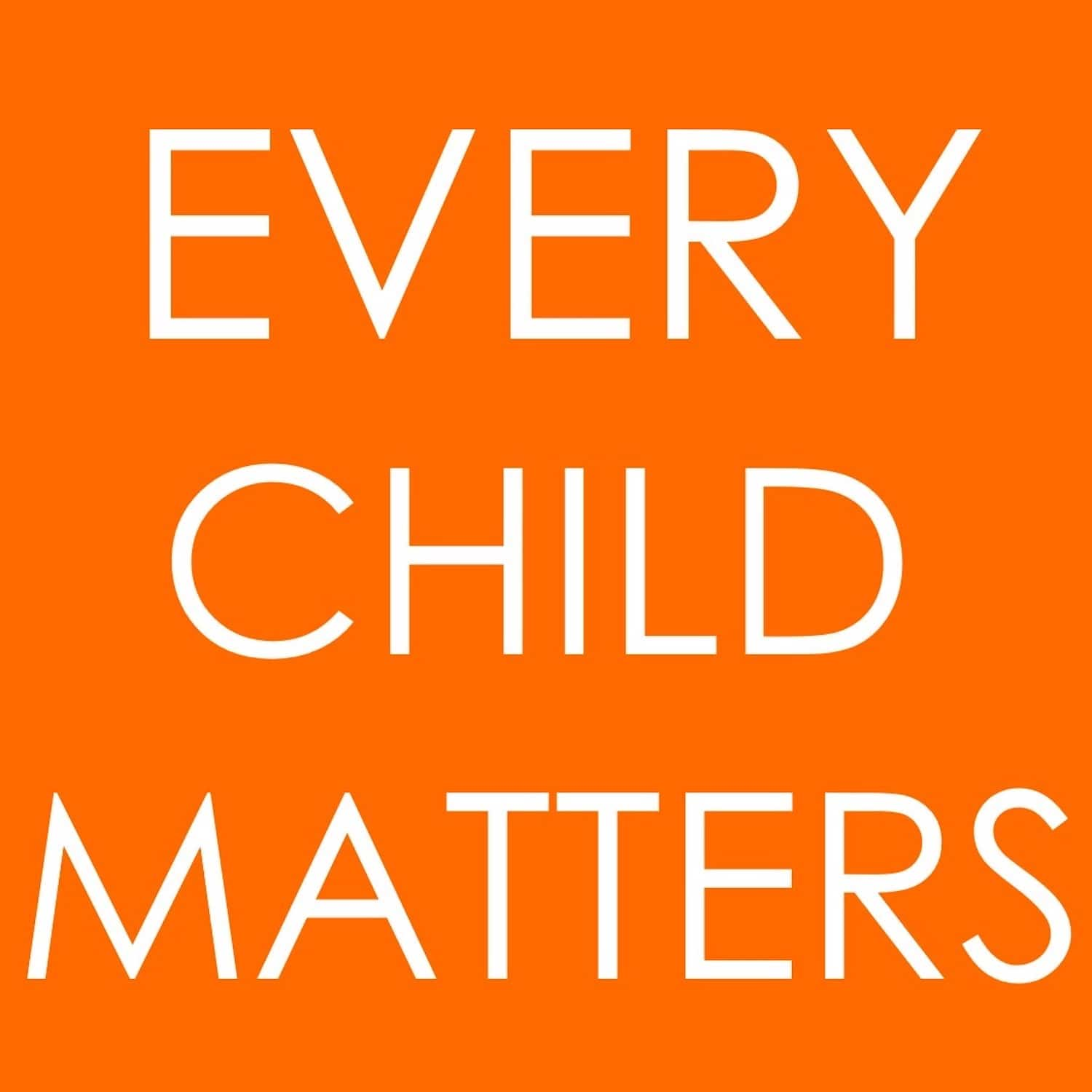 Every Child Matters – the meaning behind Orange Shirt Day