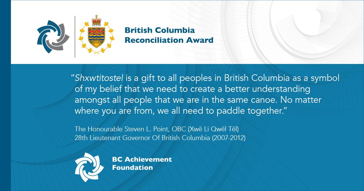 Introducing the British Columbia Reconciliation Award