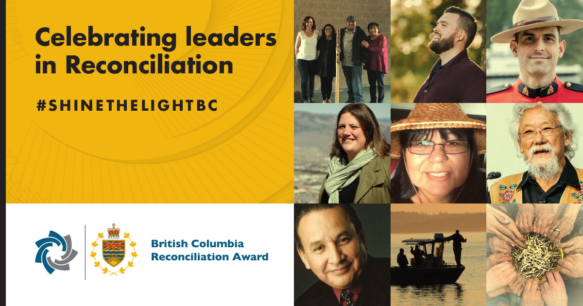 The Office of the Lieutenant Governor and the BC Achievement Foundation Announce Inaugural Reconciliation Award Recipients